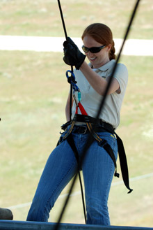 Troubled Teen Girl Builds Trust Through Rappelling